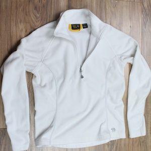 Mountain Hardwear white fleece 1/2 zip pullover